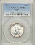 Standing Liberty Quarters: , 1917 25C Type One MS64 Full Head PCGS. PCGS Population (1752/1477).NGC Census: (1288/1116). Mintage: 8,740,000. Numismedia...