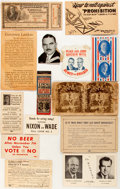 Political:Small Paper (1896-present), Herbert Hoover et al: Fourteen [14] Assorted Pieces of Political Paper....