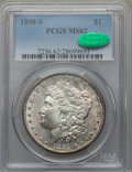 Morgan Dollars: , 1898-S $1 MS62 PCGS. CAC. PCGS Population (569/2755). NGC Census:(396/1317). Mintage: 4,102,000. Numismedia Wsl. Price for...