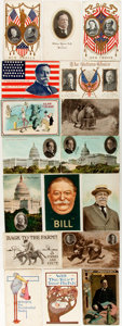 Political:Small Paper (1896-present), William Howard Taft: Seventeen [17] Postcards....