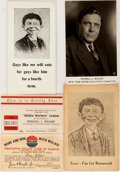 Political:Small Paper (1896-present), Wendell Willkie: Five [5] Paper Campaign Items. ...