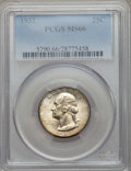 Washington Quarters: , 1932 25C MS66 PCGS. PCGS Population (195/3). NGC Census: (87/2).Mintage: 5,404,000. Numismedia Wsl. Price for problem free...