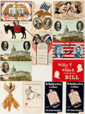 Political:Small Paper (1896-present), William Jennings Bryan: Fourteen [14] Campaign Postcards....