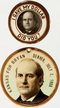 Political:Pinback Buttons (1896-present), William Jennings Bryan: Two Buttons....