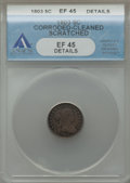 1803 H10C Large 8 -- Corroded, Cleaned, Scratched -- ANACS. XF45 Details. V-2, LM-3, R.3....(PCGS# 4269)
