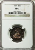 Proof Seated Quarters, 1859 25C PR63 NGC....