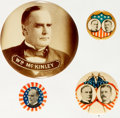 Political:Pinback Buttons (1896-present), William McKinley: Four [4] Buttons....