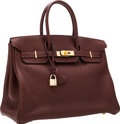 Luxury Accessories:Bags, Hermes 35cm Havane Togo Leather Birkin Bag with Gold Hardware. ...
