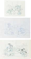 Animation Art:Production Drawing, Walt Disney's Touchdown Mickey Consumer Product IllustrationOriginal Art Group (1980s).... (Total: 6 Items)