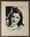 """Movie Posters:Miscellaneous, Ann Rutherford (1940s). Autographed Portrait Photo (9.5"""" X 12.5"""")in Frame (14.5"""" X 18.5""""). Miscellaneous.. ..."""