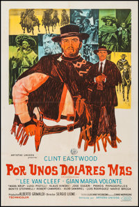 """For a Few Dollars More (United Artists, R-1974). Argentinean Poster (29"""" X 43""""). Western"""