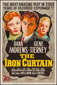 "The Iron Curtain (20th Century Fox, 1948). One Sheet (27"" X 41""). Film Noir"
