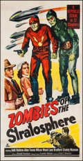 """Movie Posters:Serial, Zombies of the Stratosphere (Republic, 1952). Three Sheet (41"""" X80""""). Serial.. ..."""