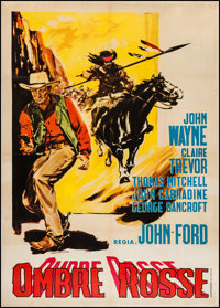 "Stagecoach (United Artists, R-1950). Italian 2 - Foglio (39"" X 55""). Western"