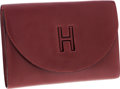 Luxury Accessories:Bags, Hermes Rouge H Calf Box Leather H Gaine Clutch Bag . ...