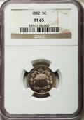 Proof Shield Nickels: , 1882 5C PR65 NGC. NGC Census: (289/263). PCGS Population (299/236).Mintage: 3,100. Numismedia Wsl. Price for problem free ...