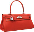 Luxury Accessories:Bags, Hermes 42cm Sanguine Togo Leather Shoulder Kelly Bag with PalladiumHardware. ...