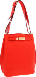 Luxury Accessories:Bags, Hermes 22cm Capucine Clemence Leather So Kelly Shoulder Bag with Gold Hardware. ...