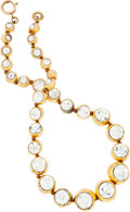 Luxury Accessories:Accessories, Chanel Gold & Crystal Necklace. ...