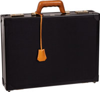 Hermes Numbered, Limited Edition 40cm Carbon Fiber & Vache Naturelle Leather Espace Briefcase with Gold Hardware, 17...