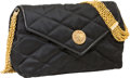 Luxury Accessories:Bags, Chanel Black Quilted Satin Evening Bag with Crystal Closure . ...