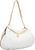 Luxury Accessories:Bags, Stella McCartney White Acrylic Hobo Bag with Brushed Gold ChainHandles. ...