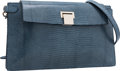 Luxury Accessories:Bags, The Row Slate Blue Lizard Clutch Bag with Shoulder Strap. ...