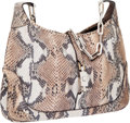 Luxury Accessories:Bags, Gucci Natural Python Jackie Shoulder Bag with Silver Hardware. ...