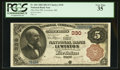 National Bank Notes:Maine, Lewiston, ME - $5 1882 Brown Back Fr. 466 The First NB Ch. # 330....