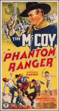 "Phantom Ranger (Monogram, 1938). Three Sheet (41"" X 78.5""). Western"