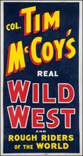 """Movie Posters:Western, Tim McCoy's Real Wild West Show (1938). Three Sheet (42"""" X 80"""").Western.. ..."""