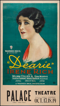 "Dearie (Warner Brothers, 1927). One Sheet (28"" X 41"") & Snipe (28"" X 8.25""). Drama"