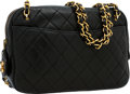 Luxury Accessories:Bags, Chanel Black Lambskin Leather Camera Bag with Gold Hardware. ...