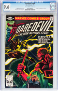 Modern Age (1980-Present):Superhero, Daredevil #168 (Marvel, 1981) CGC NM+ 9.6 Off-white to whitepages....