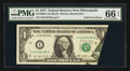 Error Notes:Foldovers, Fr. 1909-I $1 1977 Federal Reserve Note. PMG Gem Uncirculated 66 EPQ.. ...