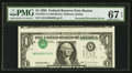 Error Notes:Inverted Third Printings, Fr. 1921-A $1 1995 Federal Reserve Note. PMG Superb Gem Unc 67EPQ.. ...