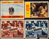 "Haunted Harbor (Republic, R-1951). Title Lobby Cards (2), Lobby Cards (6) (11"" X 14""), & Trimmed Lobby..."