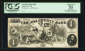 Obsoletes By State:New Hampshire, Sandwich, NH- The Carroll County Bank $1 Jan. 1, 1855 G4 Proof. ...