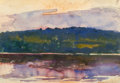 Fine Art - Painting, American:Modern  (1900 1949)  , GIFFORD BEAL (American, 1879-1956). Sunset, 1918. Watercolorand gouache on paper. 13-3/4 x 19-3/4 inches (34.9 x 50.2 c...