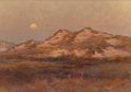 Fine Art - Painting, American:Modern  (1900 1949)  , HENRY SINGLEWOOD BISBING (American, 1849-1933). Dunes atMoonrise. Oil on canvasboard. 15 x 21-1/2 inches (38.1 x 54.6c...