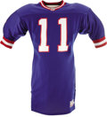 Football Collectibles:Uniforms, Circa 1992-93 Phil Simms Game Worn Jersey. Late-career gamer will make New York Giants fans recall fondly the days when thi...