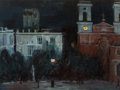 Fine Art - Painting, American:Modern  (1900 1949)  , CHARLES BITTINGER (American, 1870-1970). Night at Cadiz. Oilon canvasboard. 12 x 16 inches (30.5 x 40.6 cm). Signed low...