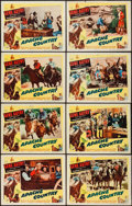 "Movie Posters:Western, Apache Country (Columbia, 1952). Lobby Card Set of 8 (11"" X 14"").Western.. ... (Total: 8 Items)"