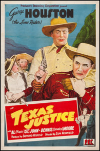 "Texas Justice (PRC, 1942). One Sheet (27"" X 41""). Western"
