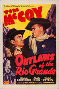 "Movie Posters:Western, Outlaws of the Rio Grande (PRC, 1941). One Sheet (27"" X 41""). Western.. ..."