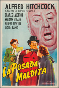 """Jamaica Inn (Paramount, R-1960s). Argentinean Poster (29"""" X 43""""). Hitchcock"""