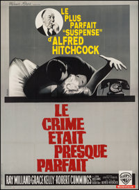 "Dial M for Murder (Warner Brothers, R-1962). French Grande (45"" X 61.5""). Hitchcock"