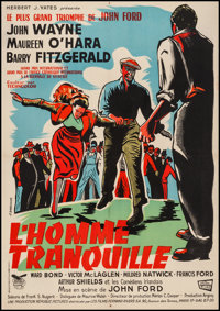 "The Quiet Man (Republic, R-1962). French Affiche (23"" X 30.75""). Drama"