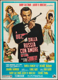 "Movie Posters:James Bond, From Russia with Love (United Artists, R-1970s). Italian 2 - Foglio(39.5"" X 55""). James Bond.. ..."