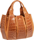 Luxury Accessories:Bags, Domenico Vacca Caramel Alligator & Leather Julie Bag. ...
